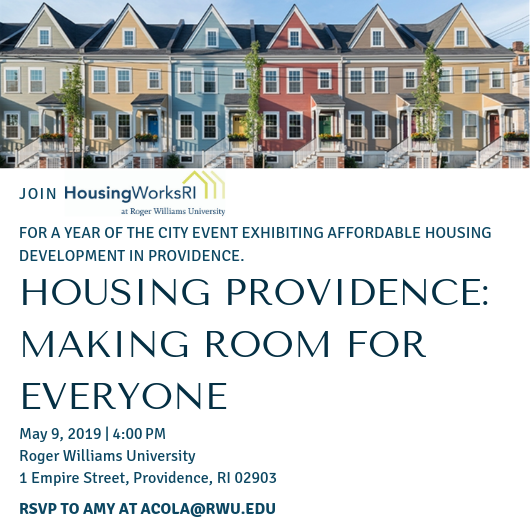 HWRI Exhibit, Housing Providence: Making Room for Everyone