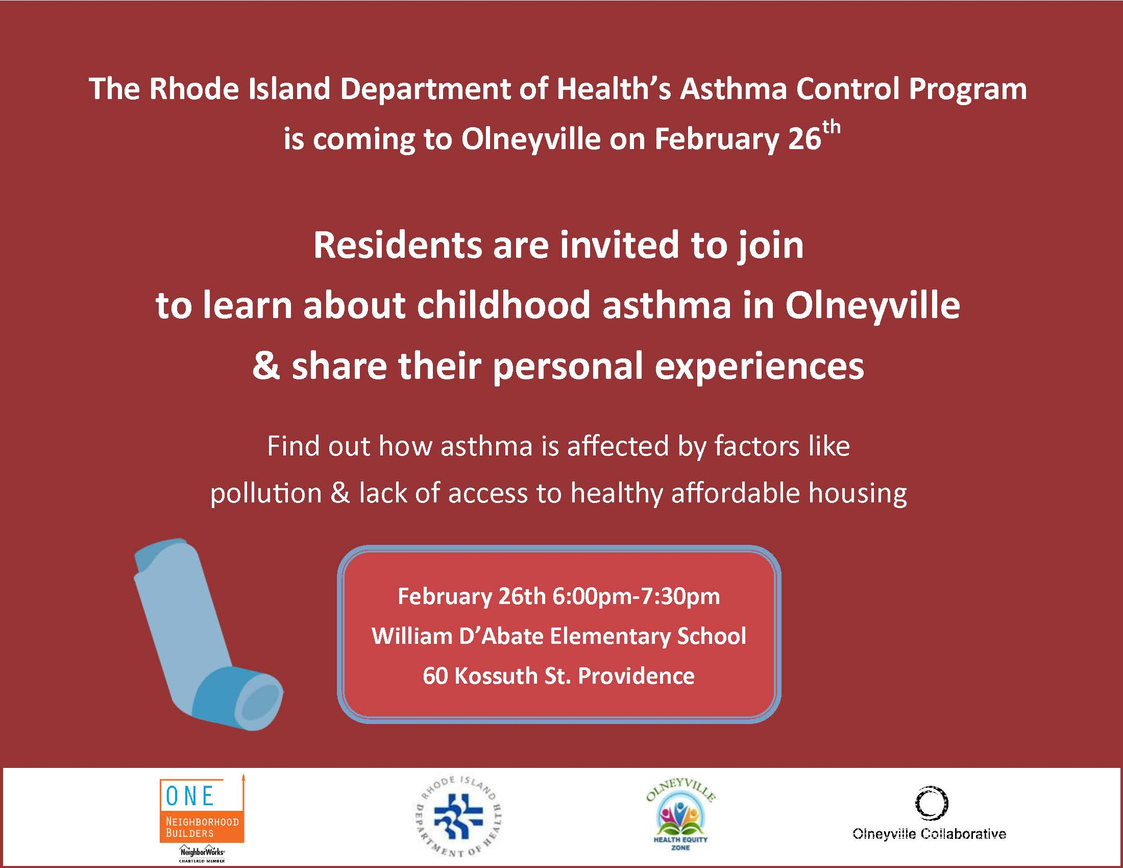 Asthma Event at William D'Abate School
