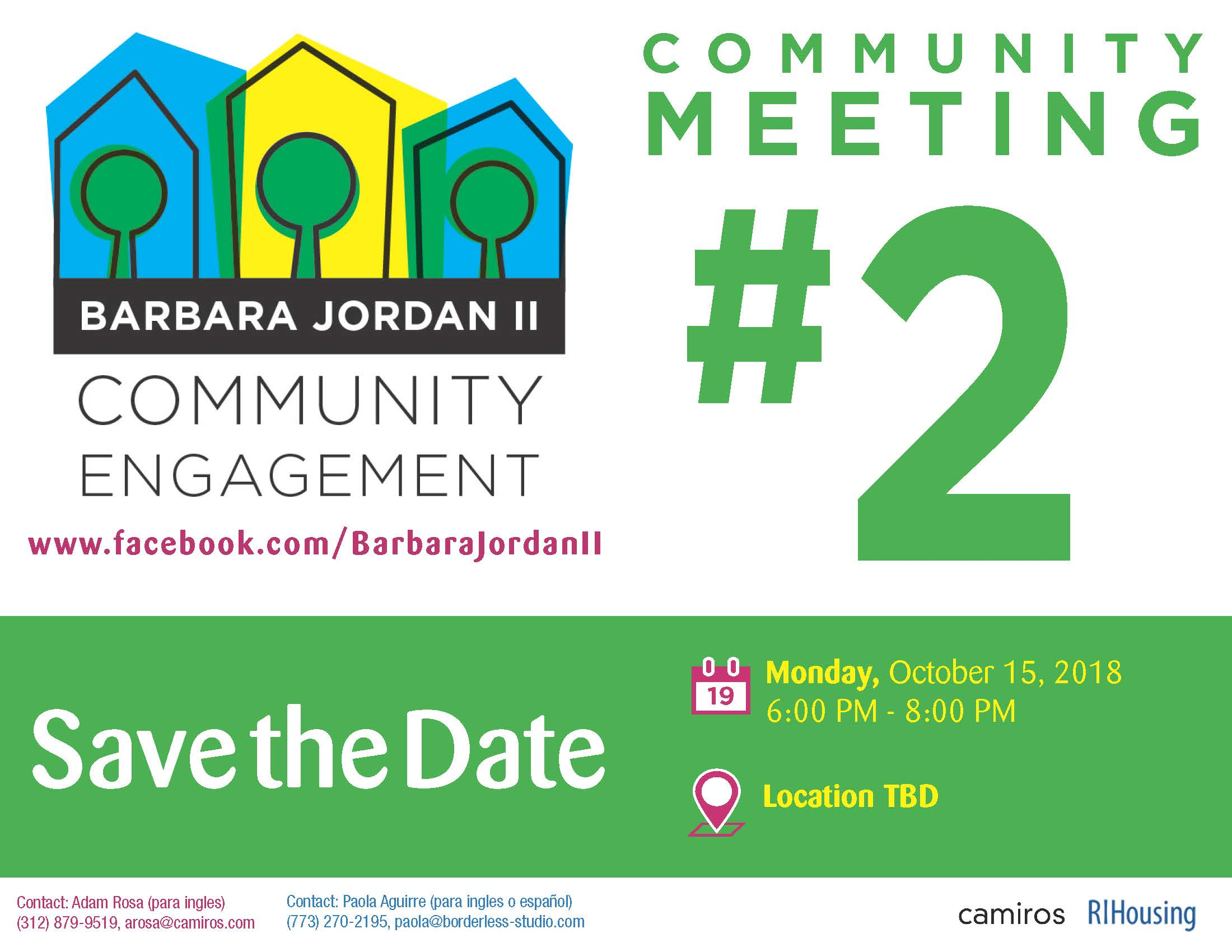 Barbara Jordan II: Community Meeting on 10/15