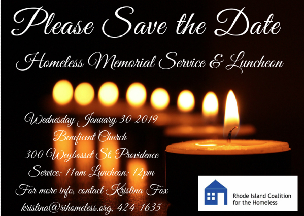 RICH: Save the Date: Homeless Memorial Vigil & Luncheon